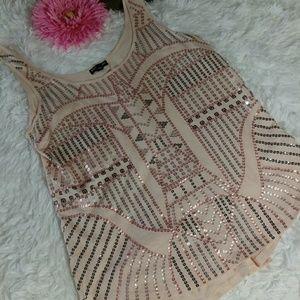 Express sleeveless sequins top